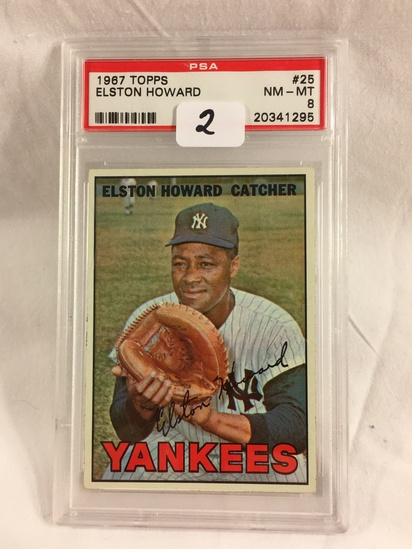Vintage Collector PSA 1967 Topps #25 Elston Howard NM-MT 8 20341295 Card