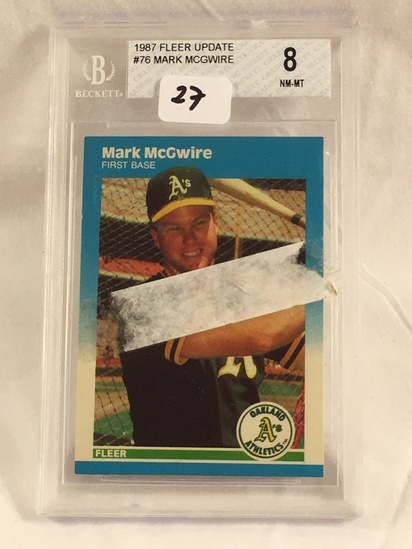 Vintage Collector Beckett 1987 Fleer Update #76 Mark McGwire NM-MT 8 Card
