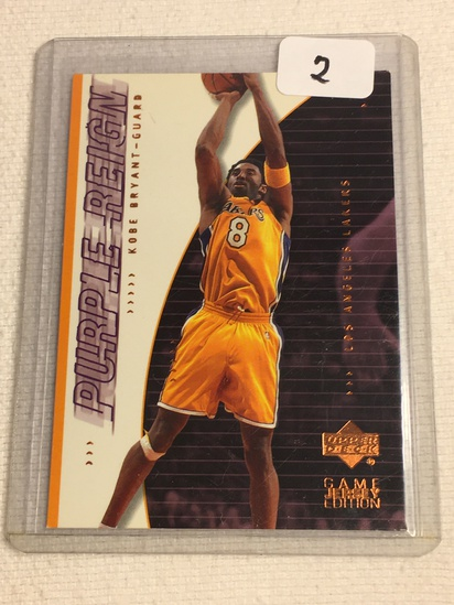 Collector 2001 Upper Deck LA Lakers Kobe Bryant Basketball Card No. 434
