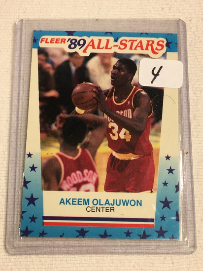 Vintage Collector 1989 Fleer Houston Rockets Akeem Olajuwon Basketball Card No. 2