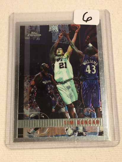 Collector 1998 Topps San Antonio Spurs Tim Duncan Basketball Card No. 115
