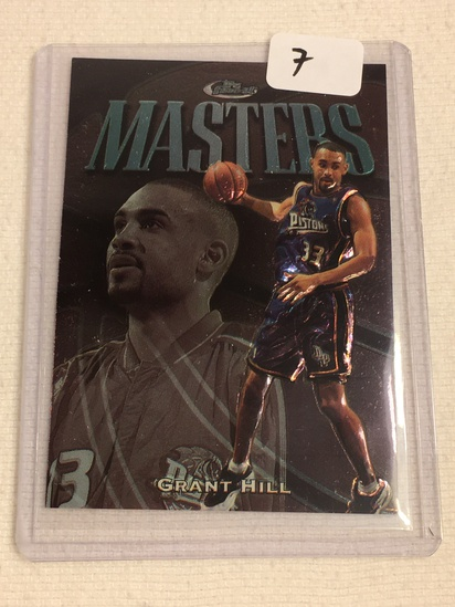 Collector Topps Detroit Pistols Grant Hill Basketball Card No. 149