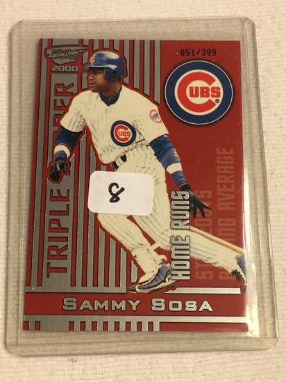 Collector 2000 Pacific Trading Cards Chicago Cubs Sammy Sosa Baseball Card No. 11