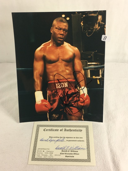 """Collector Sport Boxing Photo Autographed by David Izon 8X10"""" w/ COA"""