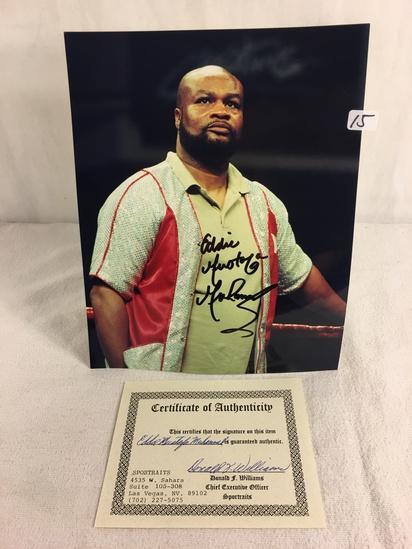 "Collector Sport Boxing Photo Signed by Eddie Mustafa Muhammad 8X10"" w/ COA"