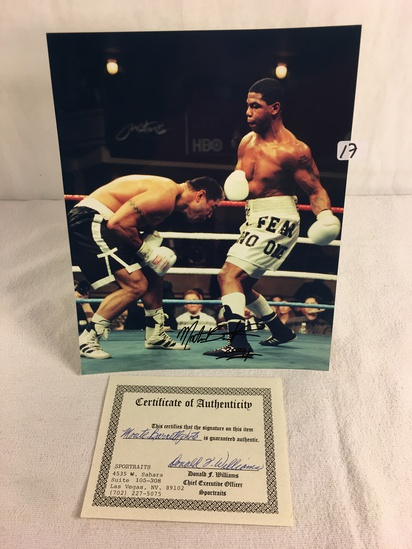 """Collector Sport Boxing Photo Autographed by Monte Barrett 8X10"""" w/ COA"""