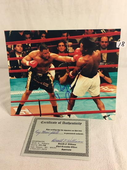 """Collector Sport Boxing Photo Autographed by Ray Mercer 8X10"""" w/ COA"""