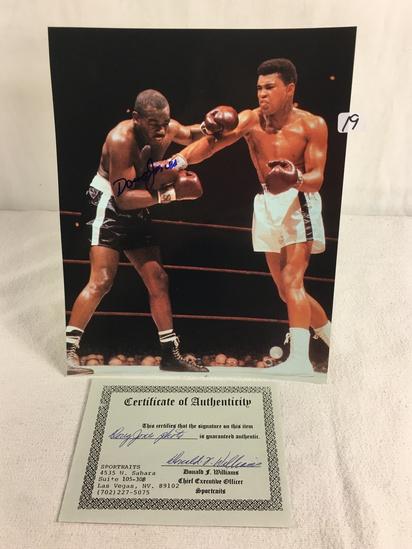 "Collector Sport Boxing Photo Autographed by Doug Jones 8X10"" w/ COA"