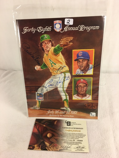 Vintage Collector 1987 Sport Baseball Program Hand Signed by Many - See Pictures