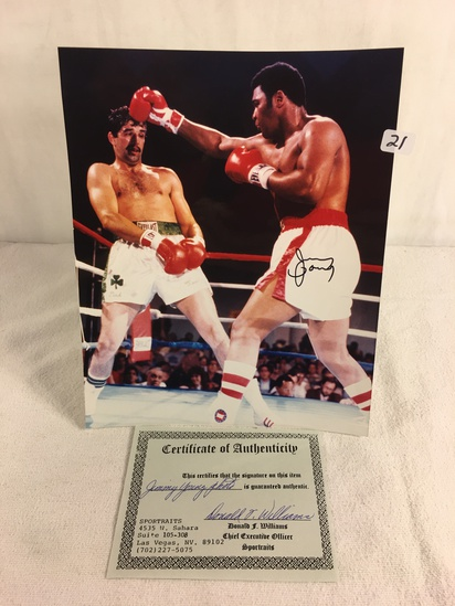 """Collector Sport Boxing Photo Autographed by Jimmy Young 8X10"""" w/ COA"""