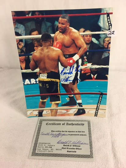 """Collector Sport Boxing Photo Autographed by Tim Witherspoon 8X10"""" w/ COA"""