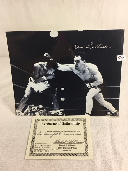 """Collector Sport Boxing Photo Autographed by Gene Fullmer 8X10"""" w/ COA"""