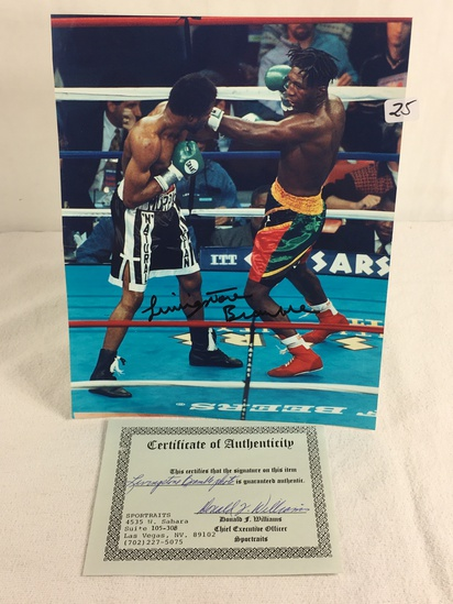 """Collector Sport Boxing Photo Autographed by Livingstone Bramble 8X10"""" w/ COA"""