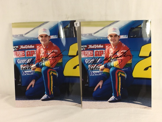 """Lot of 2 Collector Sport Racing Photo Autographed by Jeff Gordon 8X10"""" - See Pictures"""