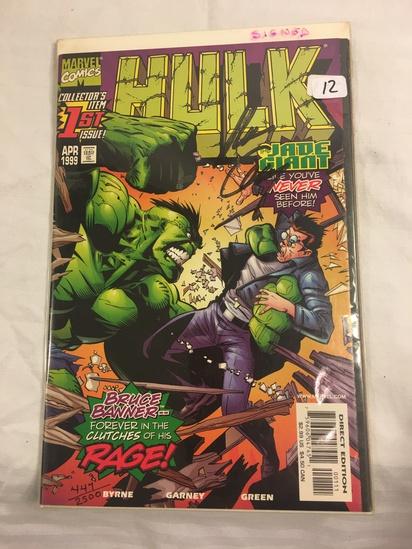 Collector Marvel Comics The Hulk #1  Hand Signed Autographed Limited Series W/Coa