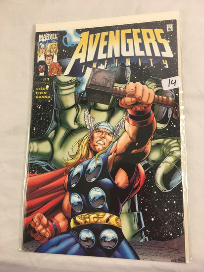 Collector Marvel Comics Avengers Infinity #1 Dynamic Forces Exclusive Cover W/Coa