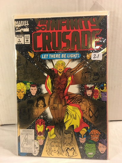 Collector Marvel Comics The Infinity Crusade #1 Hand Signed Autographed Comic Book W/Coa