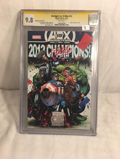Collector CGC Signature Series Avengers VS. X-Men #12 Marvel Comics 12/12 Graded 9.8