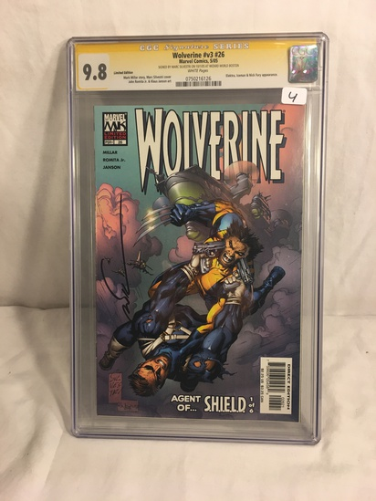 Collector CGC Signature Series Wolverine #v3 #26 Marvel Comics 5/05 Limited Edt. Graded 9.8