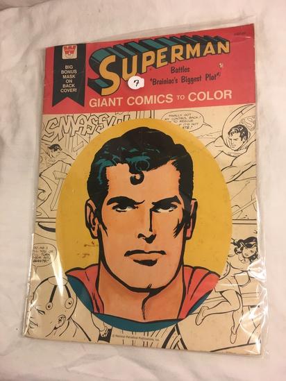 Collector Vintage Whitman  Superman Battles Brainiac's Biggest Plot Giant Comics