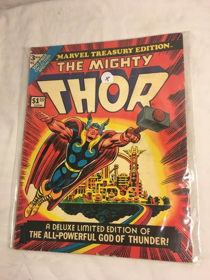 Collector Vintage 1974 Marvel Treasury Edition The Mighty Thor Deluxe Ltd. Edt Comic