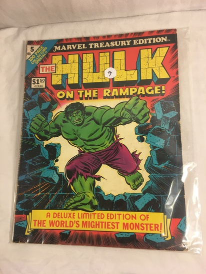 Collector Vintage Marvel Treasury Edition The Hulk on The Rampage Deluxe Limited Edition