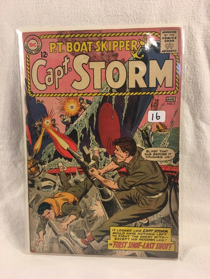 Collector Vintage DC Comics P.T. Boat Skipper Capt. Storm  Comic Book No.2
