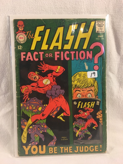 Collector Vintage DC Comics The Flash Fact or Fiction  Comic Book No.179