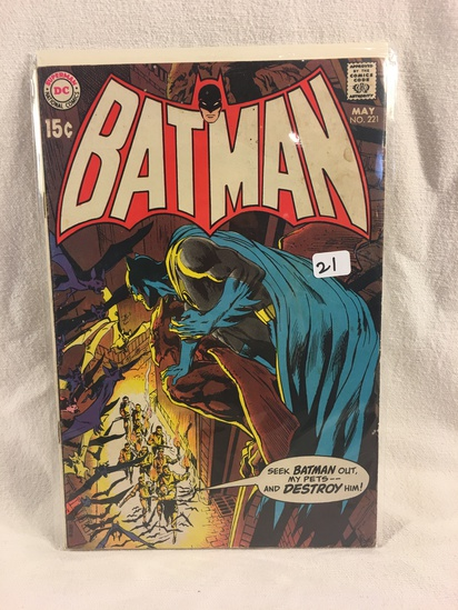 Collector Vintage DC Comics Batman  Comic Book No.221