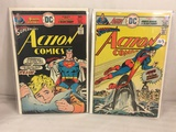 Lot of 2 Pcs Collector Vintage DC Comics  Action Comics Comic Books No.456.457.