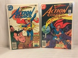 Lot of 2 Pcs Collector Vintage DC Comics  Superman's Action Comics Comic Books No.478.486.