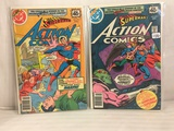 Lot of 2 Pcs Collector Vintage DC Comics  Superman's Action Comics Comic Books No.491.492.