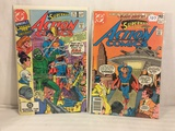 Lot of 2 Pcs Collector Vintage DC Comics  Superman's Action Comics Comic Books No.501.536.