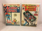 Lot of 2 Pcs Collector Vintage DC Comics  Action Comics Comic Books No.421.428.