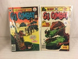 Lot of 2 Pcs Collector Vintage DC Comics G.I. Combat  Comic Books No.195.196.