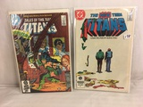 Lot of 2 Pcs Collector Vintage DC Comics  The New Teen Titans Comic Books No.39.52.