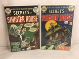 Lot of 2 Pcs Collector Vintage DC Comics Secrets Of Sinister House  Comic Books No.16.17.