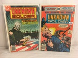 Lot of 2 Pcs Collector Vintage DC Comics  Star Spangled War Stories Unknown Soldiers No.202.216.