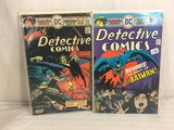 Lot of 2 Pcs Collector Vintage DC Comics Detective Comics  Comic Books No.451.455.
