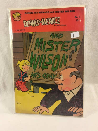 Collector Vintage Fawcett Comics Dennis The Menace and Mister Wilson Comic Book No.1