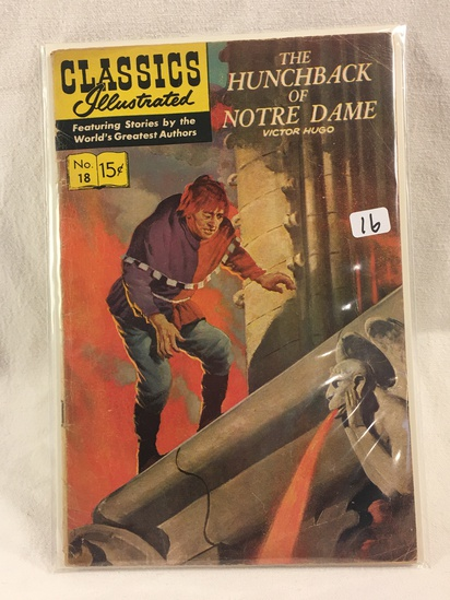 Collector Vintage Classics Illustrated Comics  The Hunchback of Notre Dame Comic Book No.18