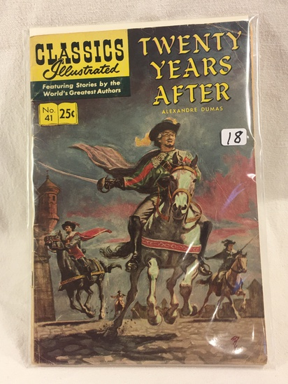 Collector Vintage Classics Illustrated Comics Twenty Years After  Comic Book No.41
