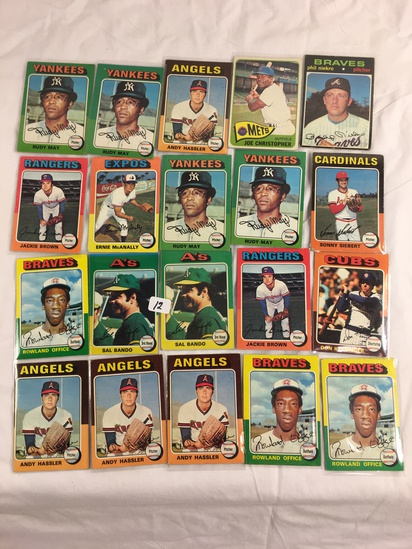 Lot of 20 Pcs Collector Loose Vintage Assorted Players Baseball Cards - See Pictures