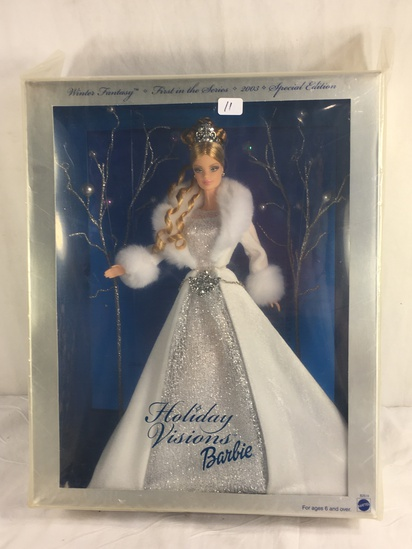 "Collector NIP 2003 Mattel Holiday Celebration Barbie Doll 11-12"" Tall Doll - See Pictures"