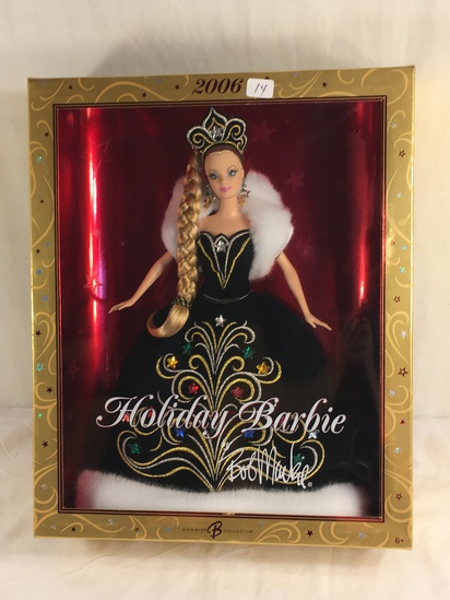 "Collector NIP 2006 Mattel Holiday Celebration Barbie Doll 11-12"" Tall Doll - See Pictures"