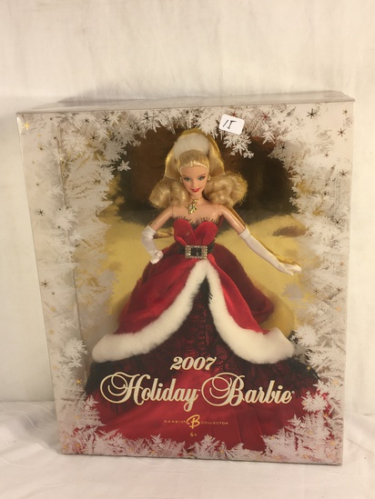 "Collector NIP 2007 Mattel Holiday Celebration Barbie Doll 11-12"" Tall Doll - See Pictures"