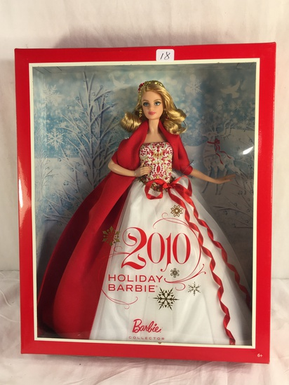 "Collector NIP 2010 Mattel Holiday Celebration Barbie Doll 11-12"" Tall Doll - See Pictures"