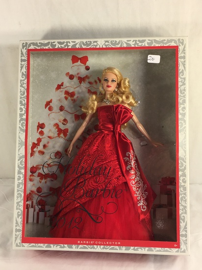 "Collector NIP 2012 Mattel Holiday Celebration Barbie Doll 11-12"" Tall Doll - See Pictures"