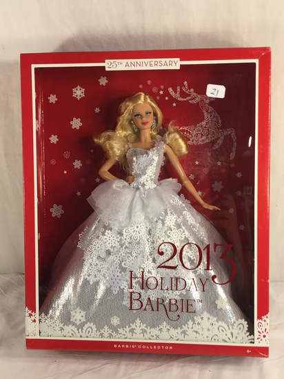 "Collector NIP 2013 Mattel Holiday Celebration Barbie Doll 11-12"" Tall Doll - See Pictures"