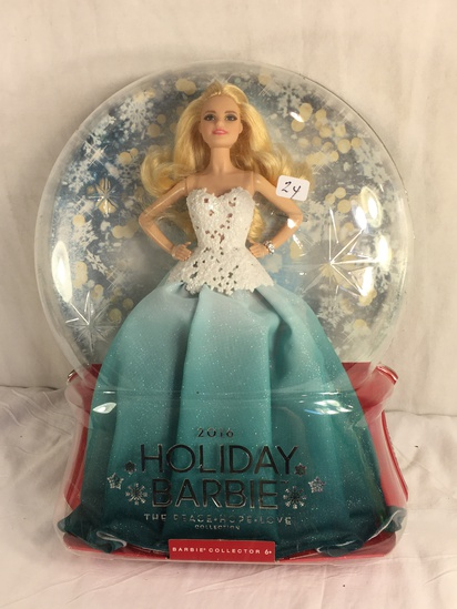 "Collector NIP 2016 Mattel Holiday Celebration Barbie Doll 11-12"" Tall Doll - See Pictures"